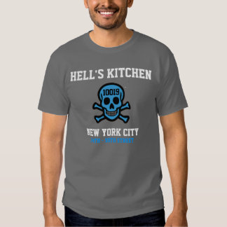 Camisa do código postal da cozinha do inferno t-shirt