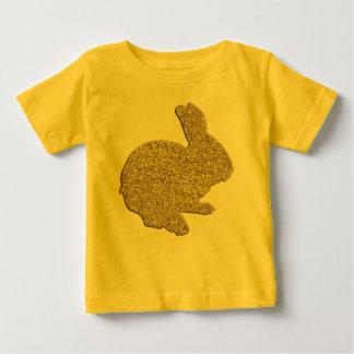 Camisa do coelhinho da Páscoa da silhueta do T-shirts