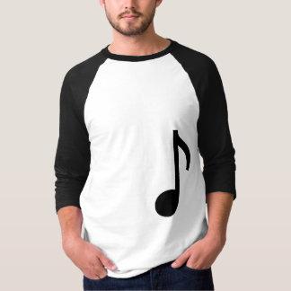 Camisa do comprimento da nota 3/4 da música