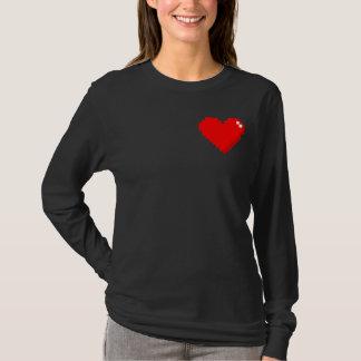 camisa do coração 8bit