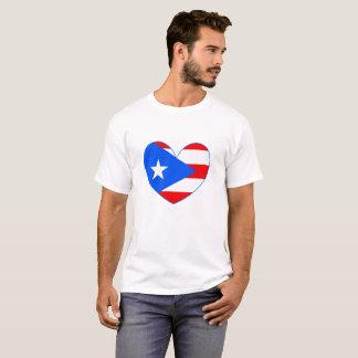 Camisa do coração da bandeira de Puerto Rico