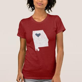 Camisa do coração de Alabama (branca) -