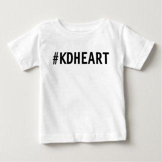 Camiseta Para Bebê Camisa do coração de KD