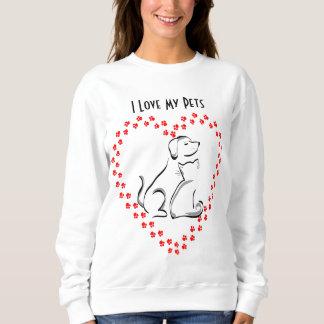 Camisa do coração de Pawprint do cão & do gato