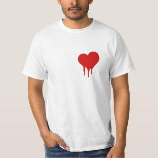 Camisa do coração de sangramento