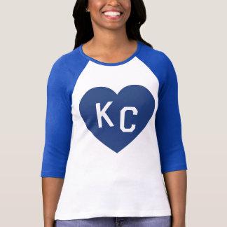 Camisa do coração do KC das mulheres