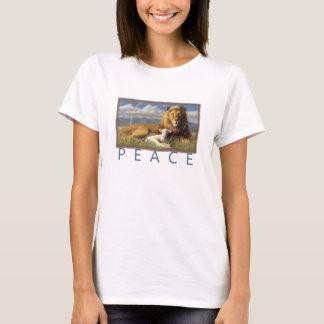 camisa do cordeiro e do leão t da paz das mulheres