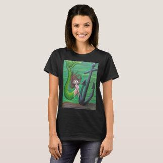 Camisa do corte das senhoras da sereia e da âncora