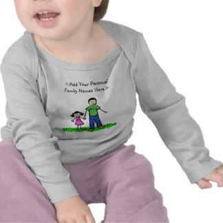 Camisa do costume da arte do pai e da filha da camiseta