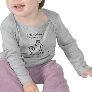 Camisa do costume da arte do pai e da filha da camisetas