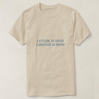 Camisa do costume da latitude e da longitude