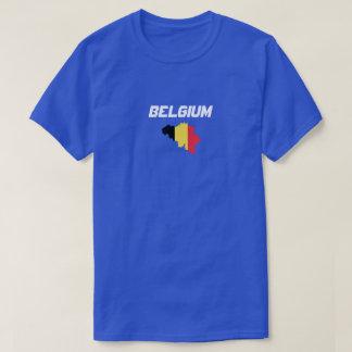 Camisa do costume do mapa da bandeira de Bélgica