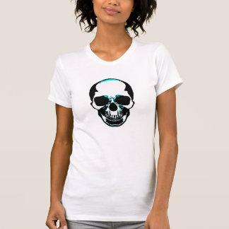 Camisa do crânio - crânio dos ossos desencapados t-shirt