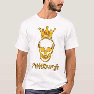 Camisa do crânio de Pittsburgh 412 - preto e ouro