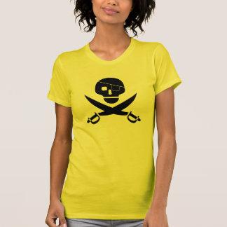 Camisa do crânio do pirata t-shirts