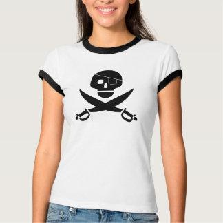 Camisa do crânio do pirata tshirts