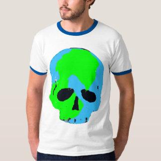 Camisa do crânio t da terra