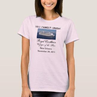 Camisa do cruzeiro da família camiseta