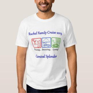 Camisa do cruzeiro da família de Ruchel T-shirts