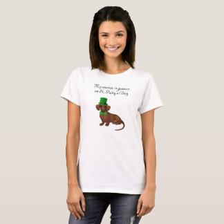 Camisa do Dachshund do dia de St Patrick