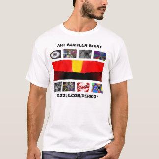 Camisa do demonstrador da arte