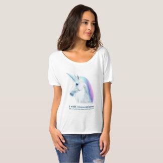 Camisa do desejo T do unicórnio