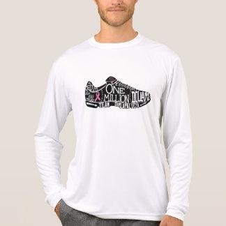 Camisa do desempenho da Longo-Luva dos homens