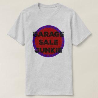 Camisa do design do círculo do vermelho azul do
