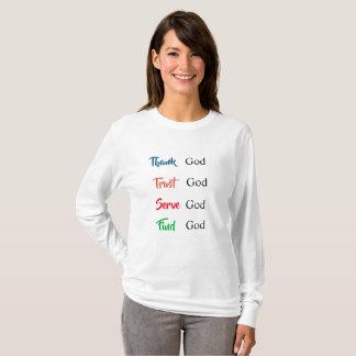 Camisa do deus da confiança