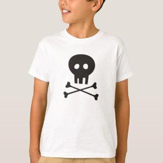 Camisa do Dia das Bruxas com crânio e Crossbones