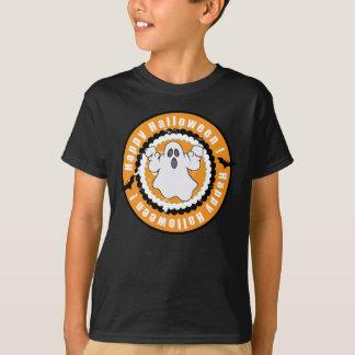 Camisa do Dia das Bruxas com fantasma