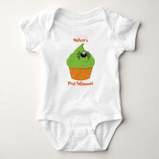 Camisa do Dia das Bruxas do bebê primeira,