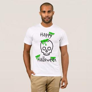 Camisa do Dia das Bruxas do limo do crânio