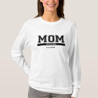 Camisa do dia das mães da mamã dos mundos a melhor