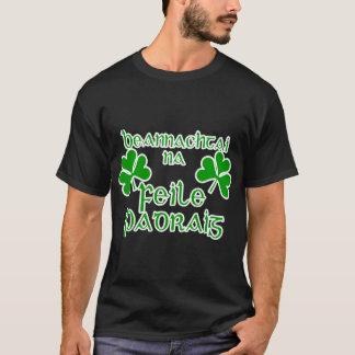 Camisa do dia de St Patrick gaélico irlandês