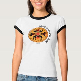 Camisa do dia do girafa do mundo