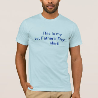 Camisa do dia dos pais/primeiramente