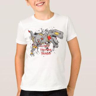 Camisa do dinossauro do tiranossauro do Cyborg do