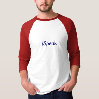 camisa do divertimento do iSpeak