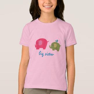 Camisa do elefante da irmã mais velha