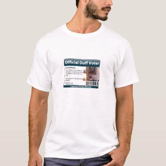 Camisa do eleitor de Duff 09 (homens)