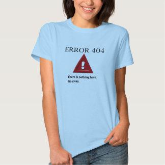 Camisa do erro 404 tshirts