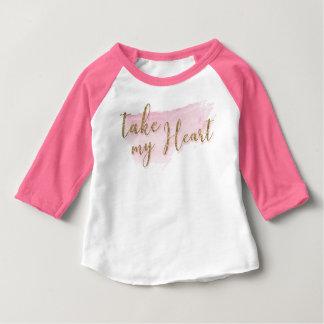 Camisa do estilo do basebol dos namorados da