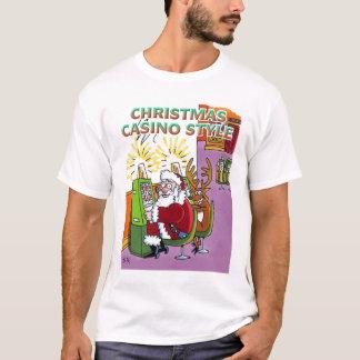 Camisa do estilo do casino do Natal