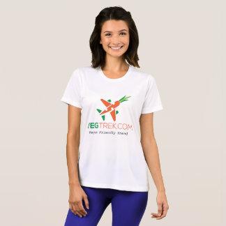 camisa do exercício das mulheres amigáveis do