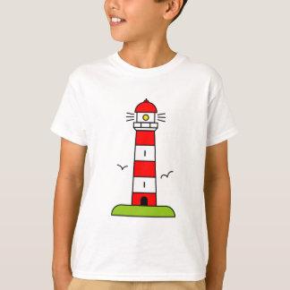 Camisa do farol t para o tema náutico da praia dos