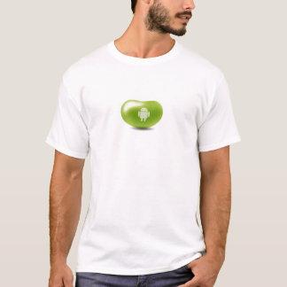 Camisa do feijão de geléia do Android