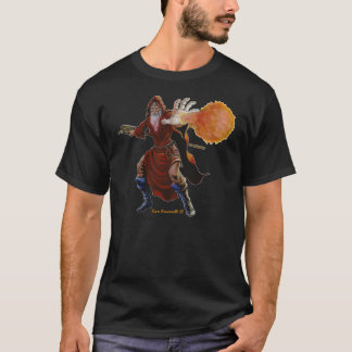 Camisa do feiticeiro da bola de fogo