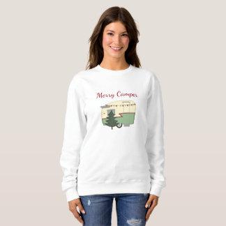 Camisa do feriado do Natal do campista do vintage