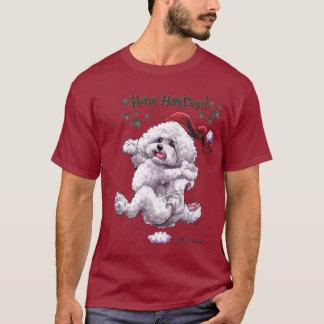 Camisa do feriado t de Bichon Frise